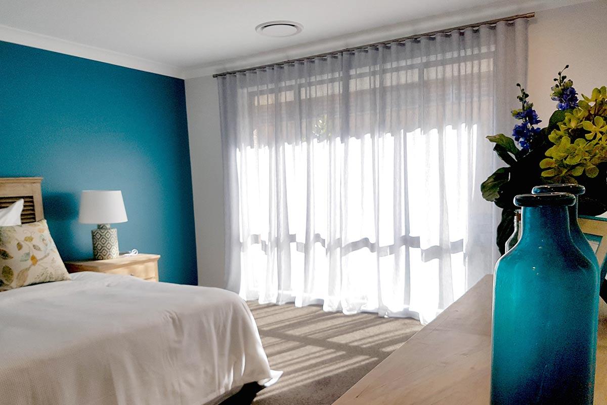 Sheer S Fold Curtain On Aluminium Rod Mitchell Design